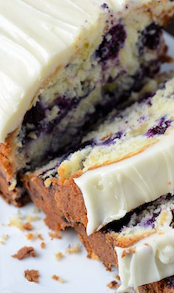 Blueberry Lime Cream Cheese Pound Cake | Recipe