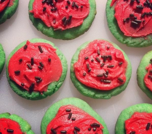 Watermelon Sugar Cookies! | Things To Eat | Pinterest