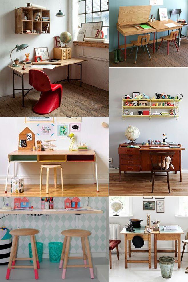Mesas de estudio para ni os distribuci n sencilla - Mesas pequenas para ninos ...