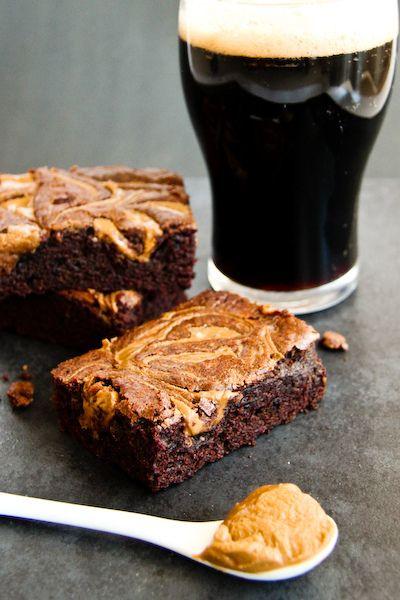 Chocolate Stout Brownies with Peanut Butter Swirls by raspberri ...