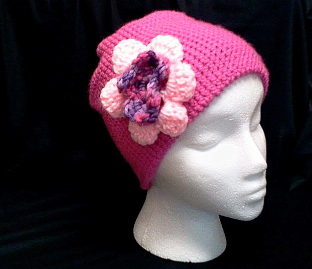 Crocheting Hats For Cancer Patients : Chemo Cap (A chemo cap is a hat intended for wear by a cancer View ...