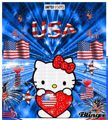 4th of july hello kitty images