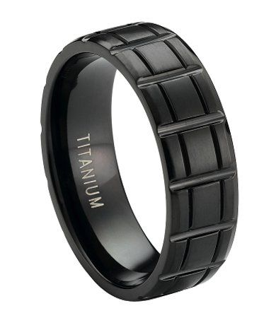 Black Titanium  Wedding Rings For Men  Pinterest
