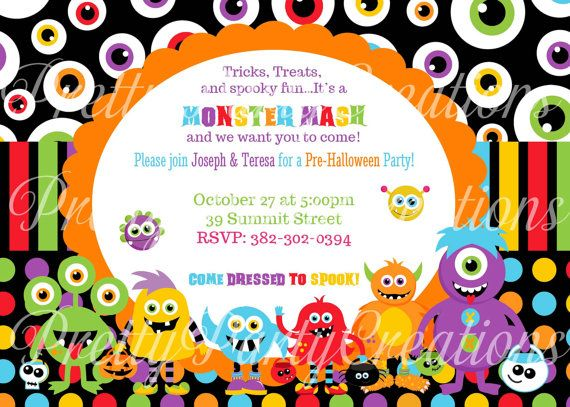 Monster Birthday Invitations as amazing invitation template