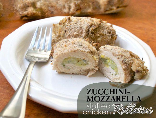 Zucchini-Mozzarella Stuffed Chicken Rollatini