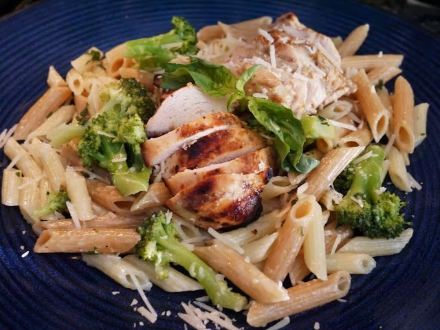 lemon basil pasta + grilled chicken recipes www.thetasteful.me