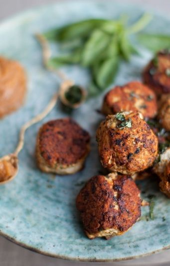 Thai Turkey Meatballs with a Peanut Dipping Sauce - appetizers ...
