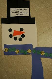 snowmen with pattern scarves | kindergarten | Pinterest