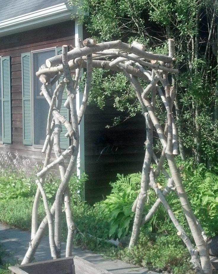 Natural Arbor DIY with branches Garden Gates and DIY