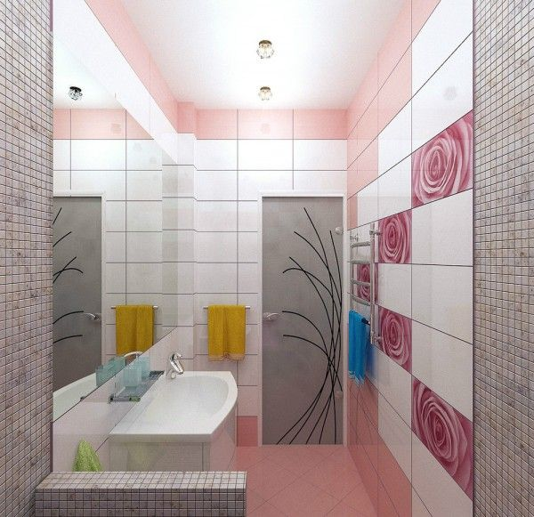 rose tiles bathroom designs pinterest