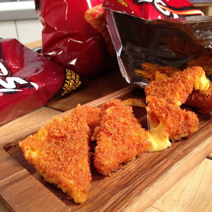 ... fried cheddar cheese sticks coated in Doritos crumbs — pictures of