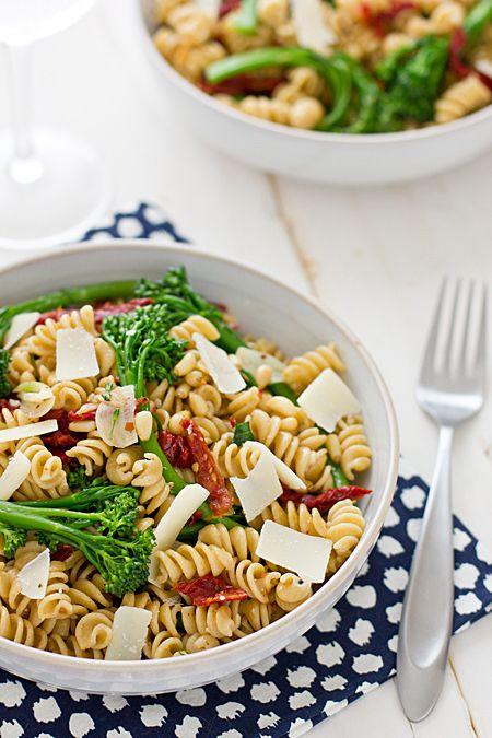 Whole Wheat Rotini with Broccolini and Sun-Dried Tomatoes | Recipe
