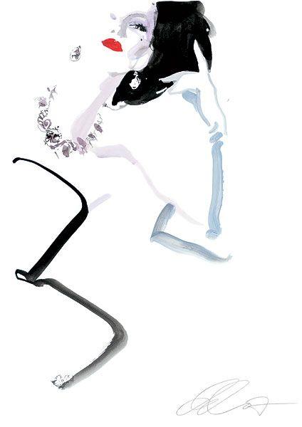 V&A   David Downton  #fashion #Illustration