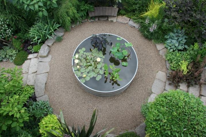 Stock Tank Pond Mosaic Gardens Garden Design Pinterest