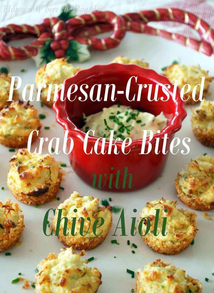 Parmesan-Crusted Crab Cake Bites | Appetizers | Pinterest