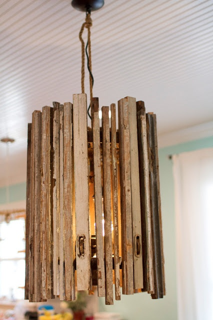 diy wooden chandelier pimping out the crib pinterest