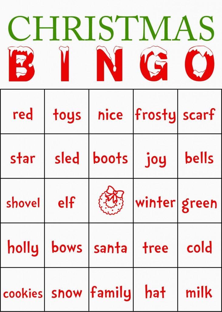 Cards Template Free Printable Christmas Bingo Cards - 16 Printable ...