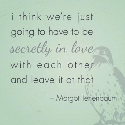 Secret Love // Poster Design// The Royal Tenenbaums