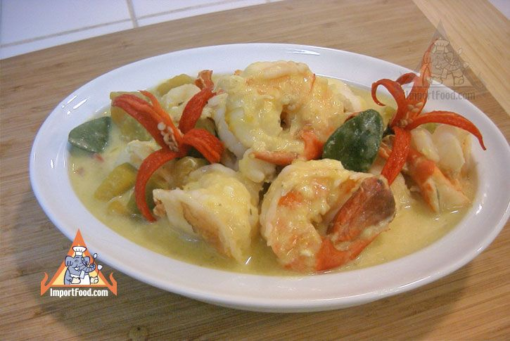 Authentic Thai recipe for Pumpkin in Coconut Soup with Shrimp ...