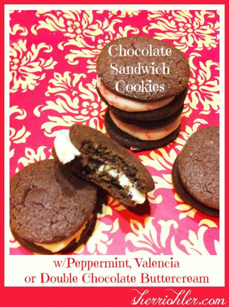 Chocolate Sandwich Cookies With Peppermint Buttercream Filling Recipes ...