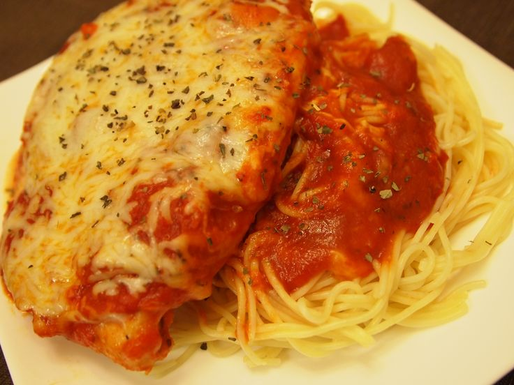 Baked Chicken Parmesan - easy recipe | Italian Infusion | Pinterest