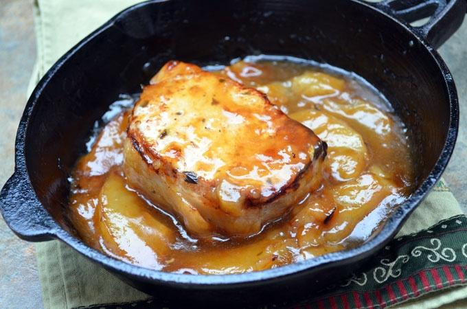 Caramel Apple Pork Chops. Substitute coconut milk and smart balance to ...