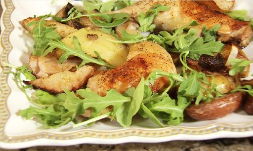 Roasted Chicken And Pears Recipe — Dishmaps