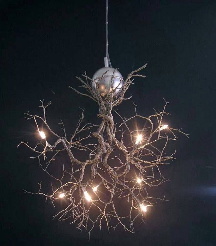 Modern Interior Tree Branch With Lights