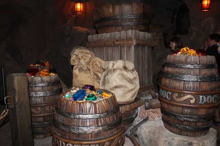 Seven Dwarfs Mine Train Barrels
