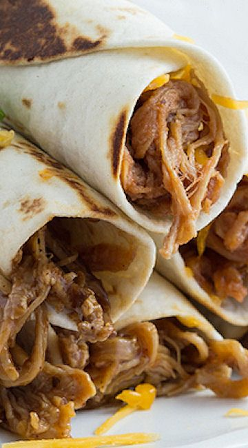 Honey-Chipotle BBQ Pulled Pork Taquitos