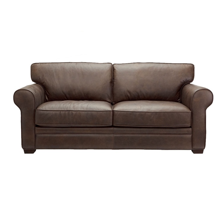 Dare gallery keitel 2 5 seat sofa brown leather couch for Couch 0 interest