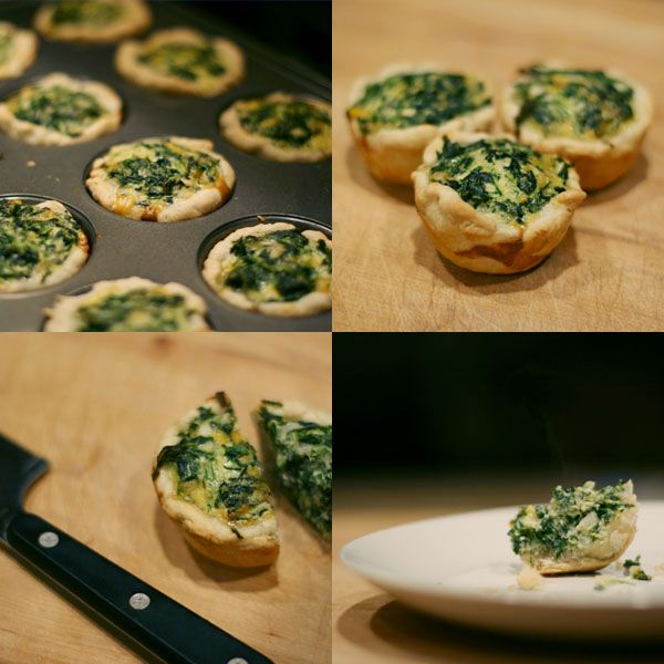 mini spinach quiche | Kitchen | Pinterest