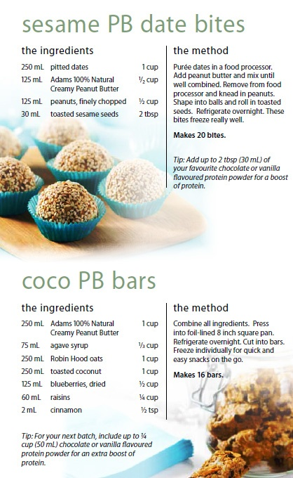 Peanut Butter Date Bites & Bars | Clean Eating | Pinterest