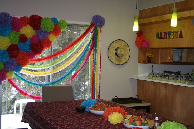 Crepe paper decorations cinco de mayo party ideas - Birthday decorations with crepe paper ...