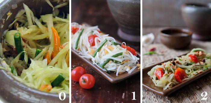 Green Papaya Salad   Som Tam   ส้มตำ - Rachel Cooks Thai