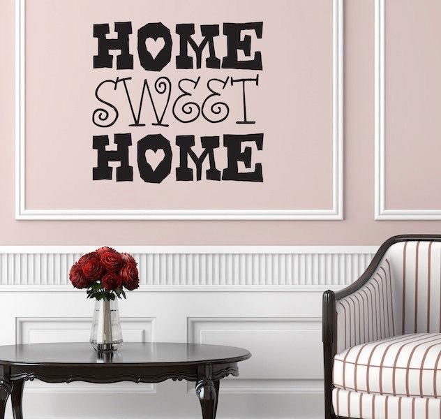 Wall Decal - Home Sweet Home - Wall vinyl sayings - Home Decor. $21.99 ...