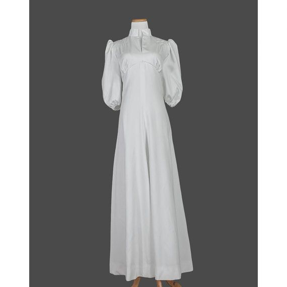 S evening gown s white wedding dress by recyclinghistory