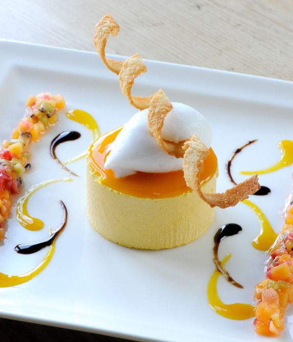 Mango parfait with coconut sorbet | Recipe