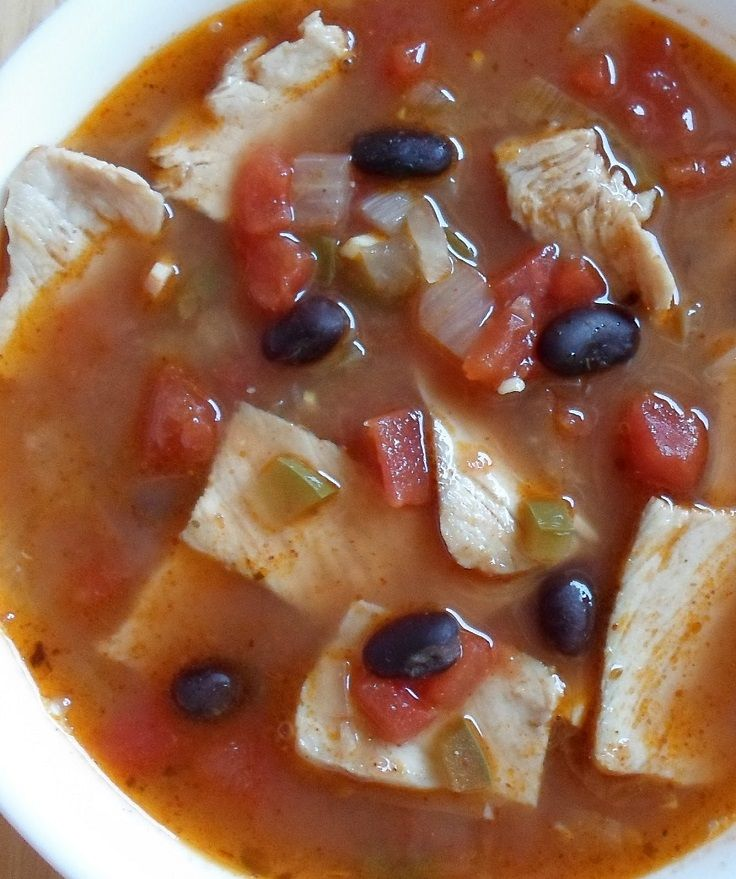 Southwestern Pork And Bean Soup | Soups and stews | Pinterest