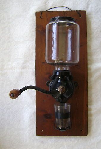 Wall Mounted Grinder ~ Antique wall mounted coffee grinder mount