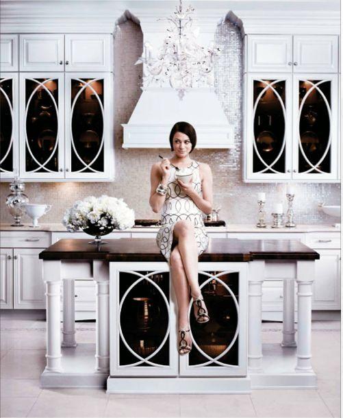 Art deco kitchen kitchen backsplash ideas pinterest for Modern art deco kitchen design