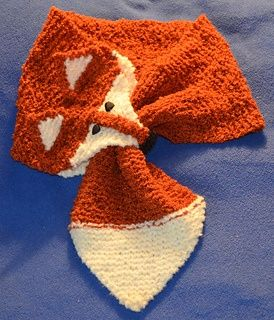 Fox scarf Knit Pattern ~ Free All Things Knitting and Crochet Pinterest