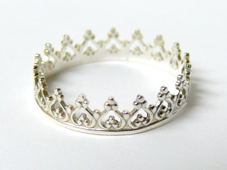 silver crown ring sterling silver ring princess ring
