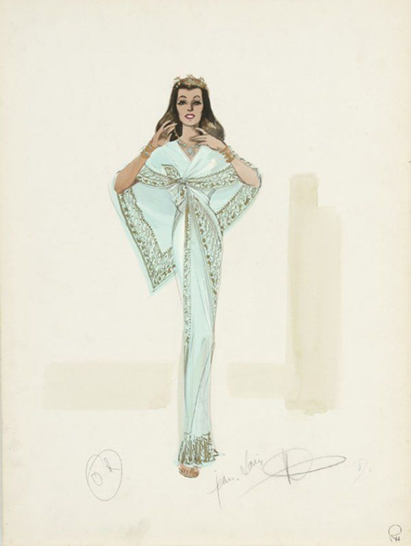Rita Hayworth costume sketch by Jean Louis