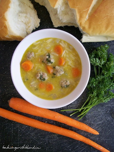Baking with Blondie : Turkey Meatball and Orzo Soup