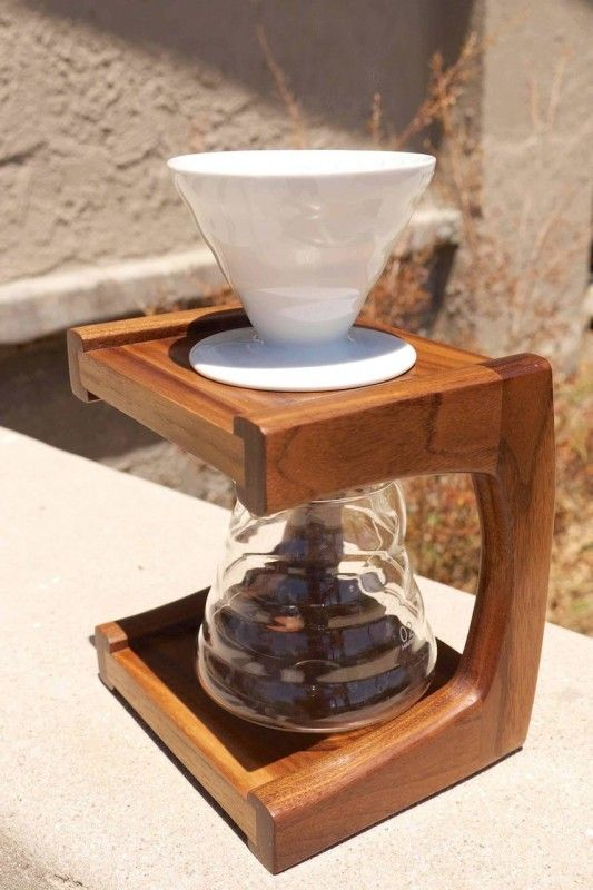 Walnut Coffee Pour Over Stand | Woodworking Project Ideas | Pinterest