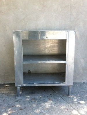 Stainless steel table/shelf. End table, book shelf, plant stand, small ...