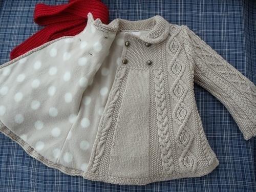 Осинка вязание детское пальто