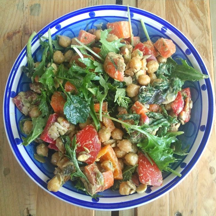 Tahini, Avocado, Chickpea Salad :) | Healthy, tasty vegan meals for e ...
