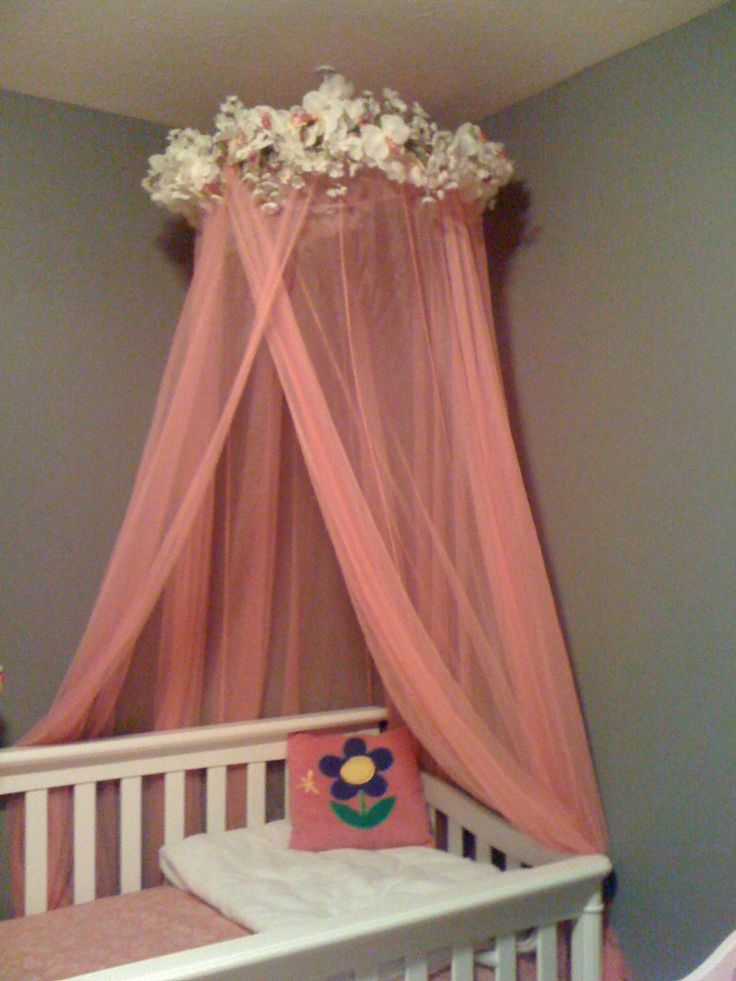 canopy over crib baby rooms pinterest